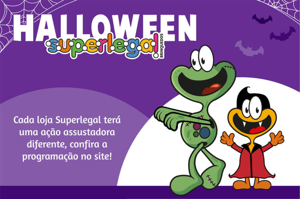 O dia mais assustador e divertido do ano! Halloween é na Superlegal!